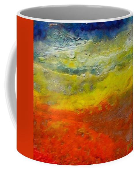 Seashore Coffee Mug featuring the painting Seashore by Dragica Micki Fortuna