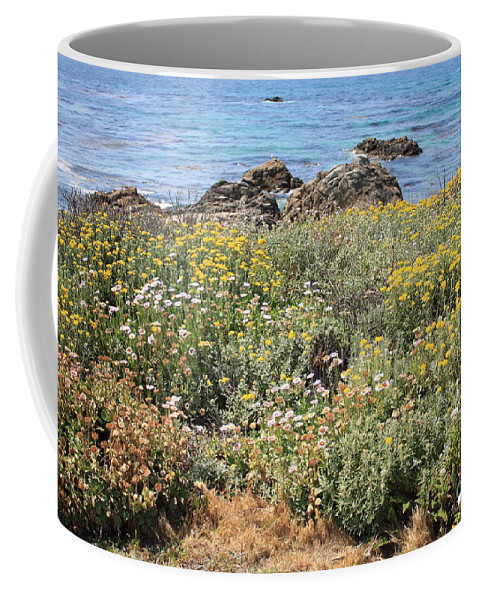 Seaside Flowers Coffee Mug featuring the photograph Seaside Flowers by Carol Groenen