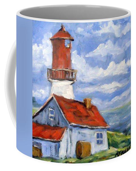 Art Coffee Mug featuring the painting Seaside Sentinal by Richard T Pranke