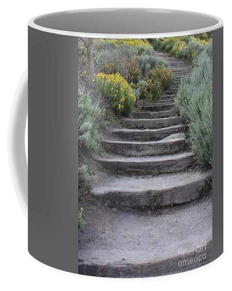 Seaside Steps Coffee Mug featuring the photograph Seaside Steps by Carol Groenen