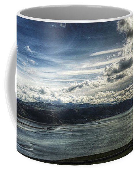 Aqua Coffee Mug featuring the photograph Seaside by Svetlana Sewell