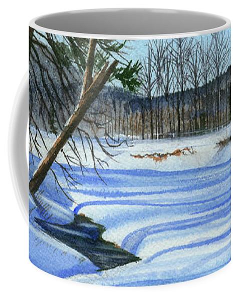 Winter Coffee Mug featuring the painting Season Of Shadows by Cheryl Johnson