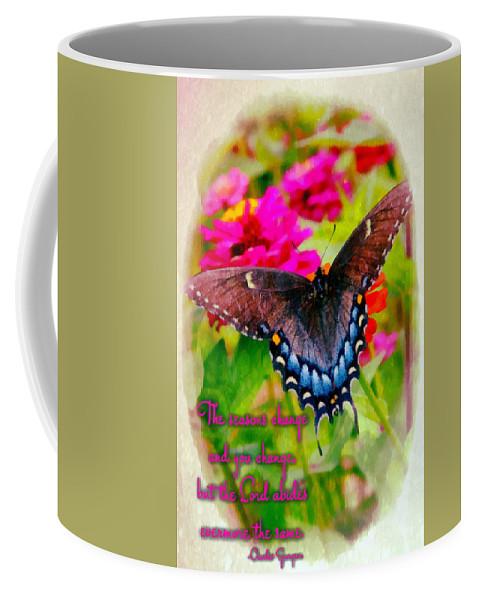 Jesus Coffee Mug featuring the digital art Seasons Change by Michelle Greene Wheeler