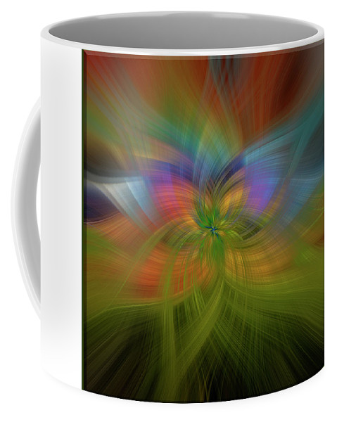 Abstract Coffee Mug featuring the digital art Seasons Change Pl1 by Mark Myhaver
