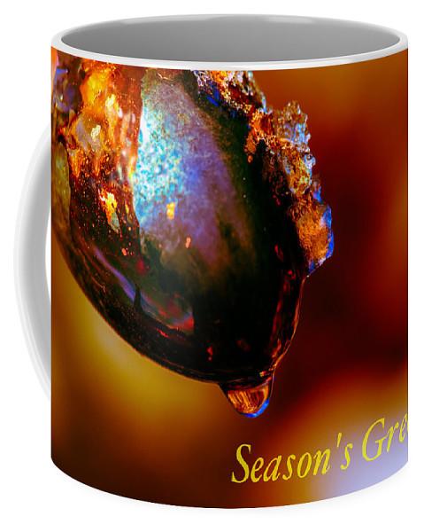 Ice Coffee Mug featuring the photograph Season's Greetings- Iced Light by Joy McAdams