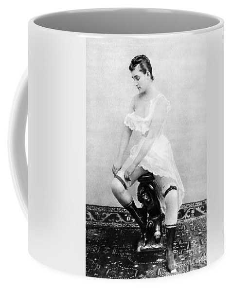 1885 Coffee Mug featuring the photograph Seated Nude, C1885 by Granger