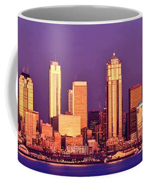 Seattle Coffee Mug featuring the photograph Seattle Gold Reflection by Tim Rayburn