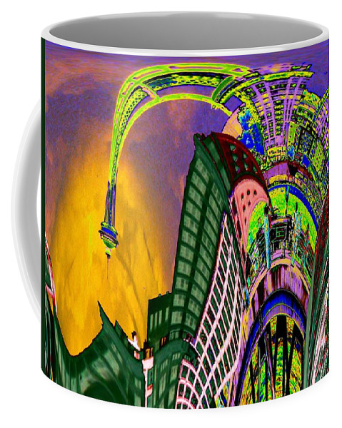 Seattle Coffee Mug featuring the photograph Seattle In Daliland by Tim Allen