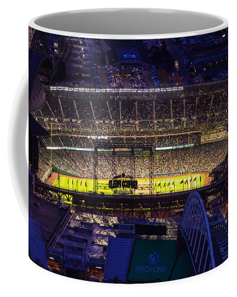 Mariners Coffee Mug featuring the photograph Seattle Mariners Safeco Field Night Game by Mike Reid