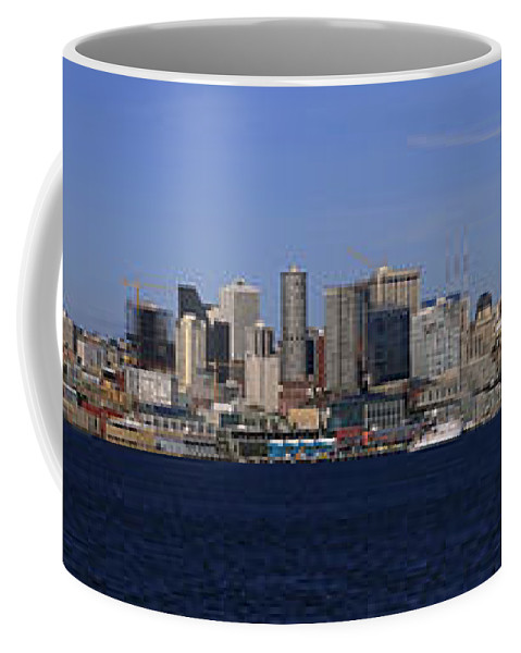 3scape Coffee Mug featuring the photograph Seattle Panoramic by Adam Romanowicz