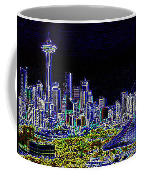 Seattle Coffee Mug featuring the photograph Seattle Quintessence by Tim Allen