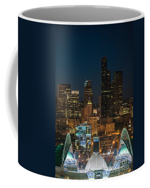 Seattle Coffee Mug featuring the photograph Seattle Seahawks Where The Magic Happens by Mike Reid