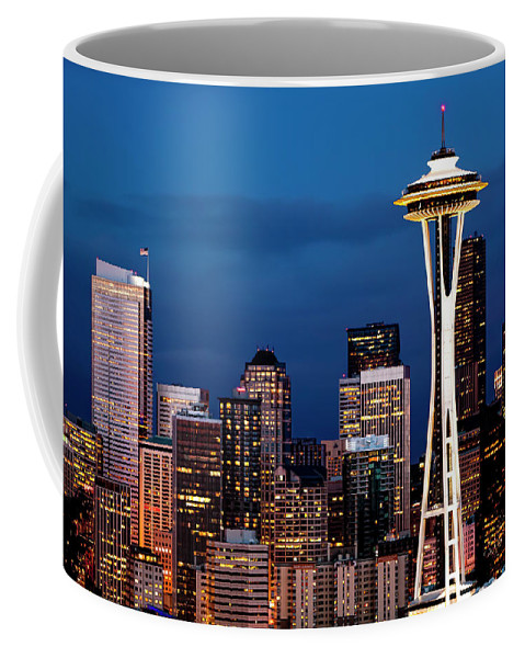 Seattle Coffee Mug featuring the photograph Seattle Skyline by Janet Fikar