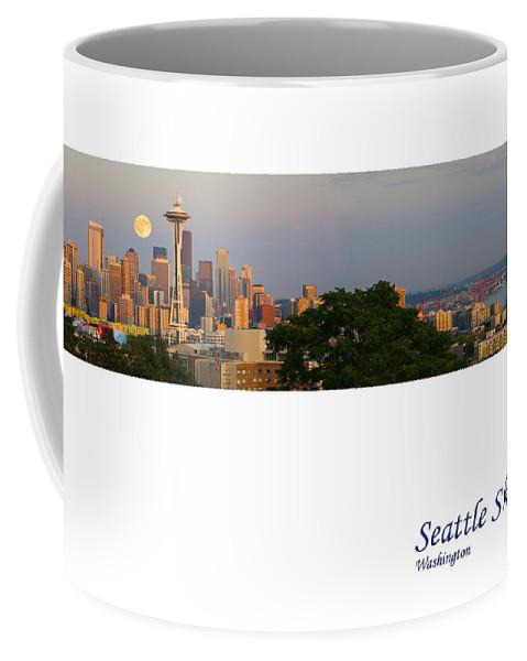 Seattle Coffee Mug featuring the photograph Seattle Skyline by Karen Ulvestad