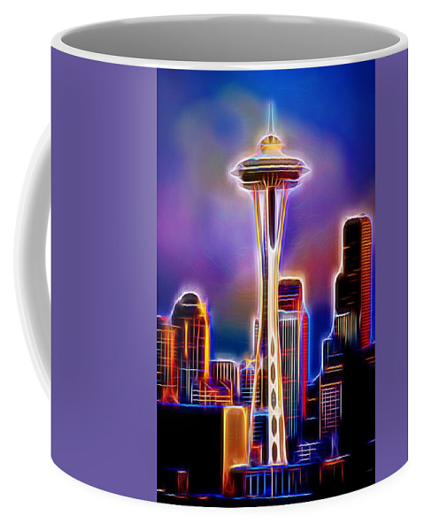 Seattle Space Needle Coffee Mug featuring the photograph Seattle Space Needle 1 by Aaron Berg