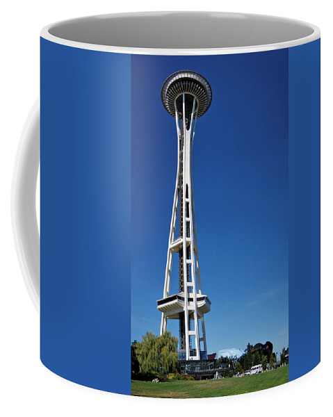 3scape Coffee Mug featuring the photograph Seattle Space Needle by Adam Romanowicz