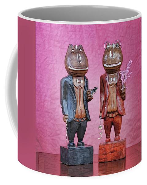 Wooden Coffee Mug featuring the photograph Sebastian And Ichabod by Rebecca Raybon