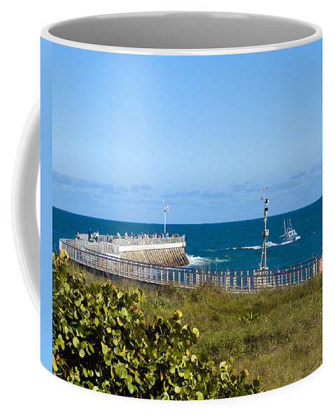 Florida; Space; Coast; Sebastian; Inlet; Indian; River; Lagoon; Shore; Sea; Ocean; Atlantic; East; W Coffee Mug featuring the photograph Sebastian Florida by Allan Hughes