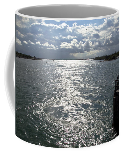 Sunset Coffee Mug featuring the photograph Sebastian Inlet On The Atlantic Coast Of Florida Usa by Allan Hughes