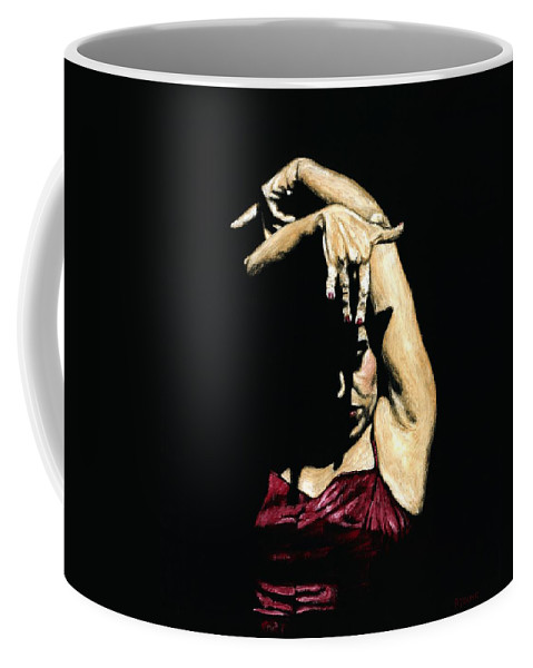 Flamenco Coffee Mug featuring the painting Seclusion Del Flamenco by Richard Young