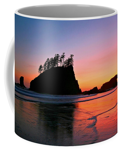 Landscape Coffee Mug featuring the photograph Second Beach Sunset by Winston Rockwell