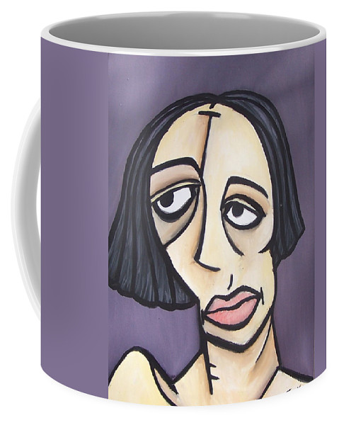 Nude Coffee Mug featuring the painting Second Vanessa by Thomas Valentine