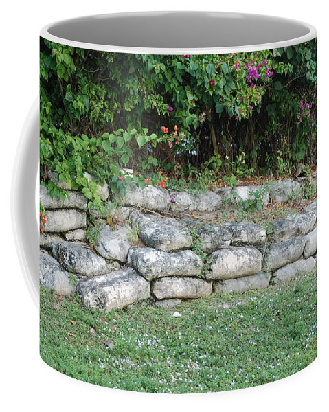Block Coffee Mug featuring the photograph Secret Block Wall by Rob Hans