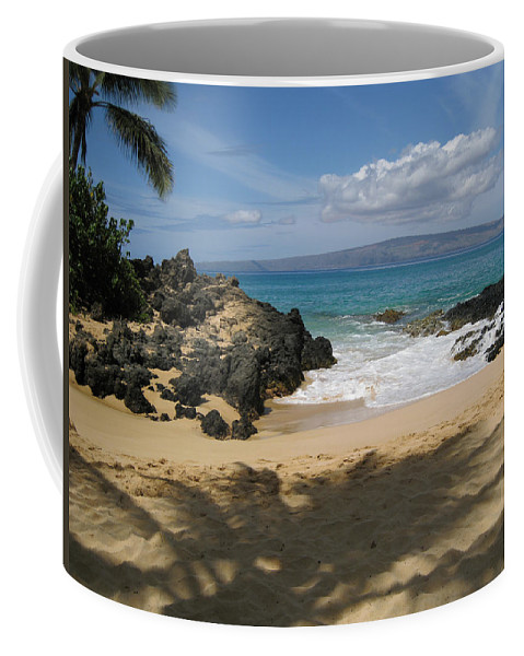 Tropical Coffee Mug featuring the photograph Secret Cove by Angie Hamlin