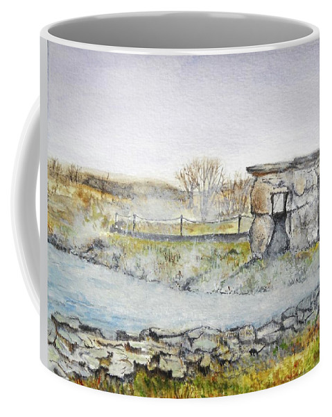 Peaceful Coffee Mug featuring the painting Secret Lagoon by Lisa Cini