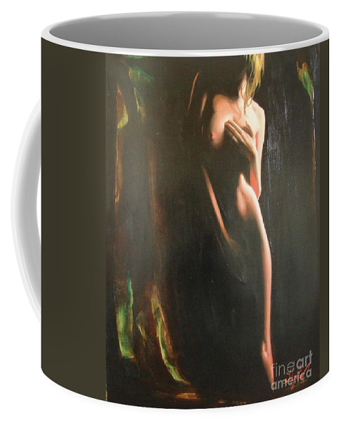Art Coffee Mug featuring the painting Secrets by Sergey Ignatenko