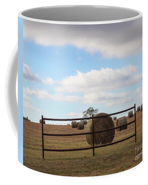 Field Coffee Mug featuring the photograph Secure Fence by Laura Deerwester