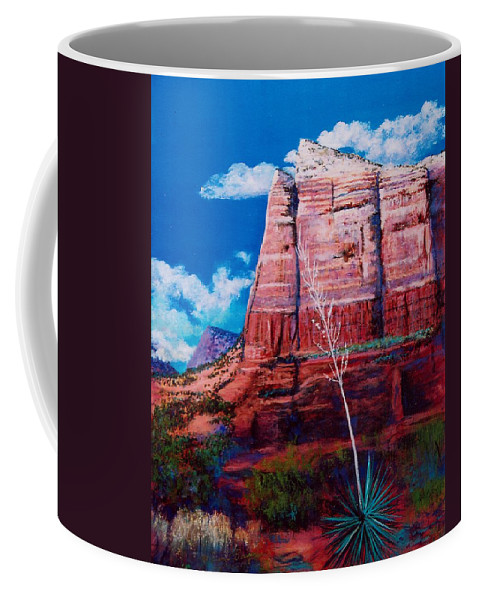 Southwest Coffee Mug featuring the painting Sedona Red Rock by M Diane Bonaparte