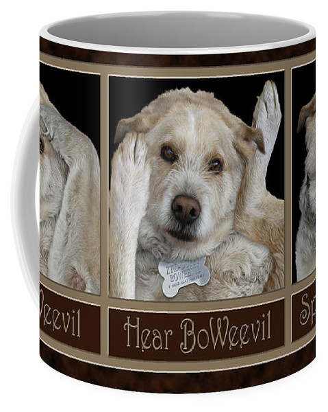 Enlightened Animals Coffee Mug featuring the digital art See Boweevil by Becky Titus