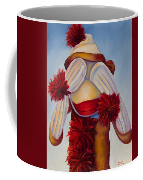 Children Coffee Mug featuring the painting See No Bad Stuff by Shannon Grissom