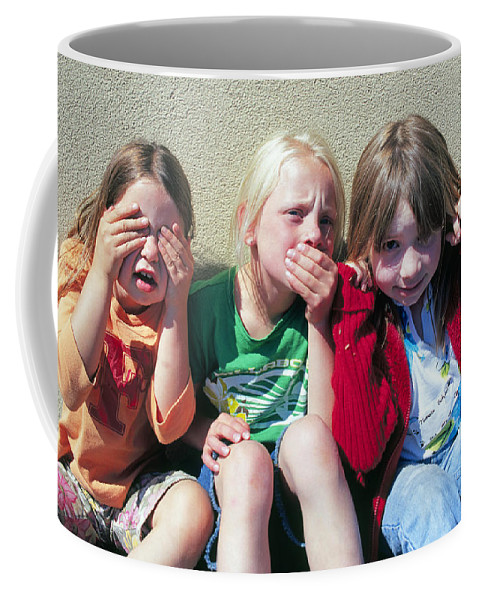 Children Coffee Mug featuring the photograph See No Weevils, Eat No Weevils, Don't Speak To Weevils by Buddy Mays