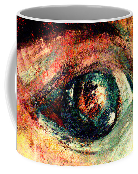 Eyes Coffee Mug featuring the painting See Through by Shakti Brien