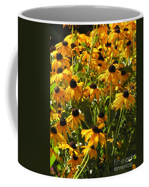Sunflower Coffee Mug featuring the photograph See Us Together by Diane Greco-Lesser