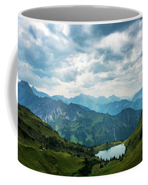 Landscape Coffee Mug featuring the photograph Seealpsee by Andreas Hagspiel