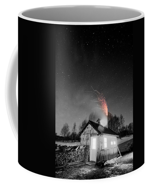 Vermont Coffee Mug featuring the photograph Selective Fire by Tim Kirchoff
