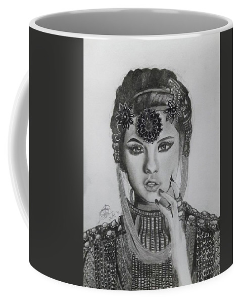 Selena Gomez Coffee Mug featuring the drawing Selena Gomez by Mary Joy Asuncion