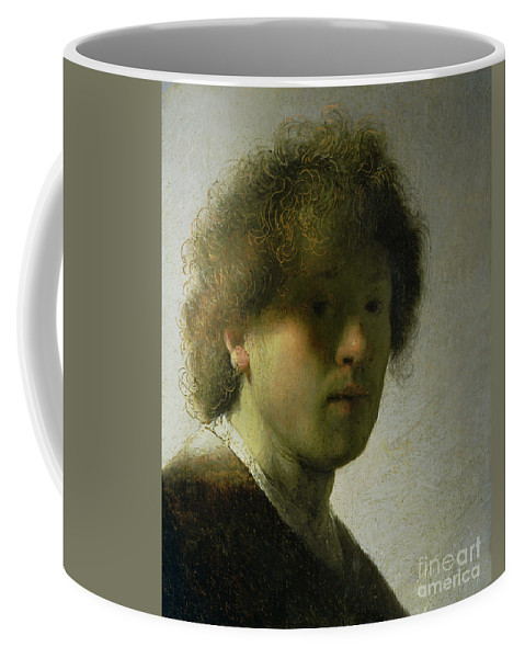 Self Coffee Mug featuring the painting Self Portrait As A Young Man by Rembrandt