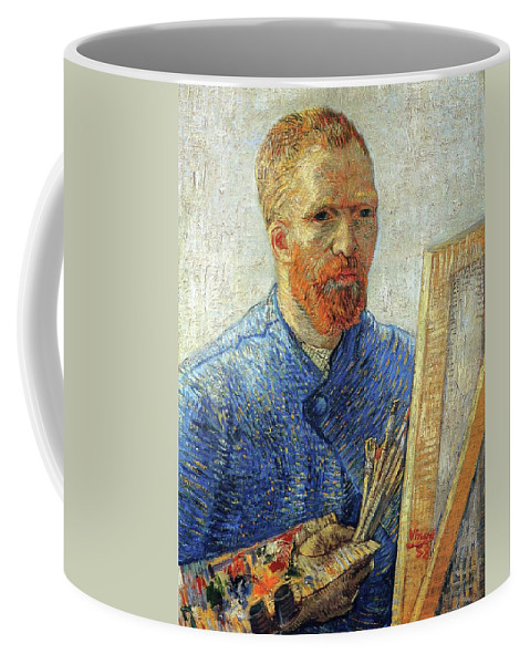 Vincent Van Gogh Coffee Mug featuring the painting Self Portrait As An Artist by Vincent Van Gogh