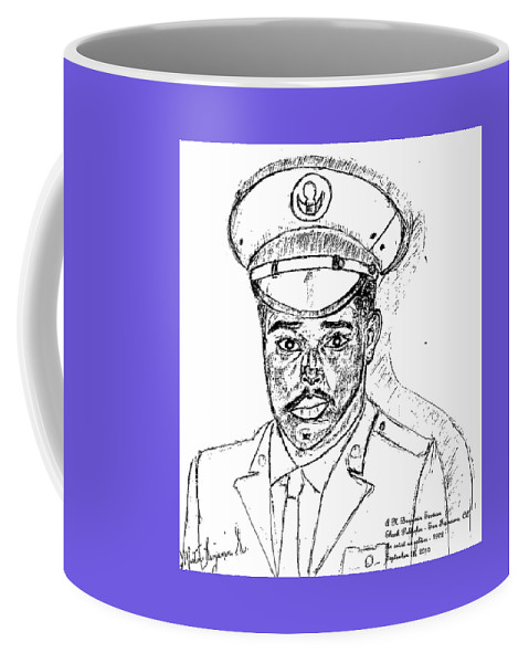 Soldier Coffee Mug featuring the digital art Self Portrait As Soldier by Anthony Benjamin