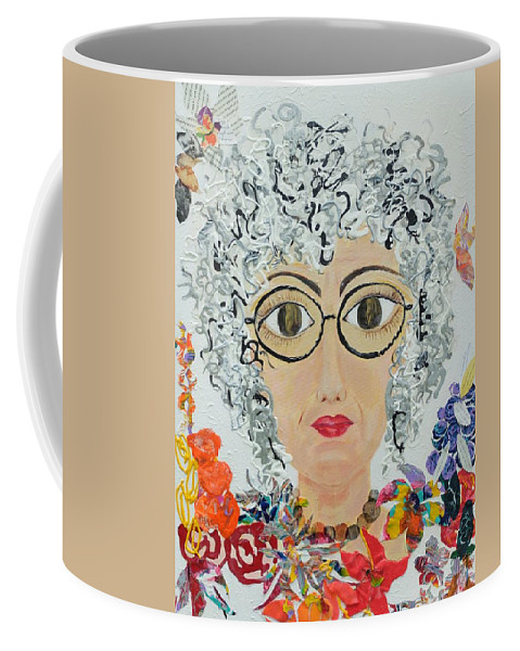 Self-portrait Coffee Mug featuring the painting Not Anymore by Gail Goren