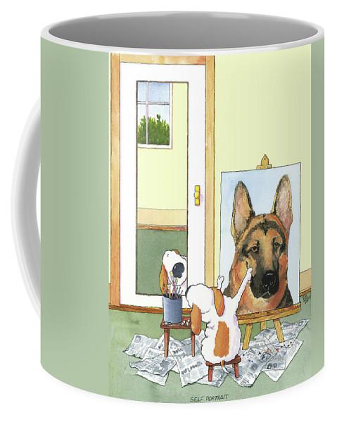 German Shepherd Coffee Mugs Fine Art America