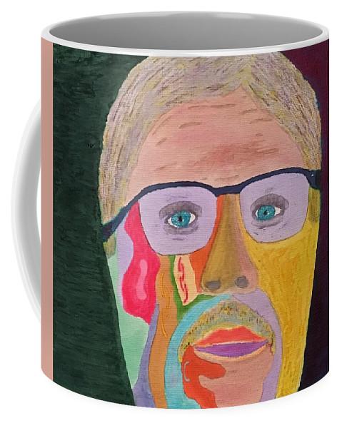 Self Portrait Coffee Mug featuring the painting Self Portrait by John Cunnane