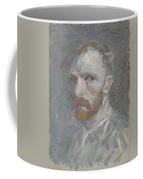 Man Coffee Mug featuring the painting Self-portrait Paris, July  August 1887 Vincent Van Gogh 1853 1890 by Artistic Panda