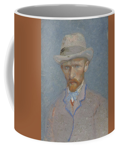 Man Coffee Mug featuring the painting Self-portrait Paris Summer 1887 Vincent Van Gogh 1853 1890 by Artistic Panda
