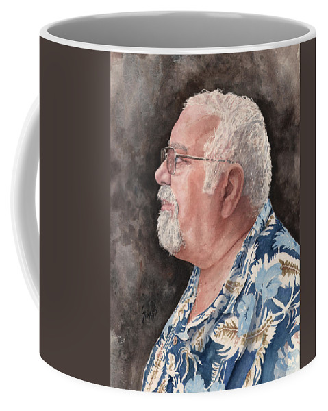 Coffee Mug featuring the painting Self Portrait by Sam Sidders