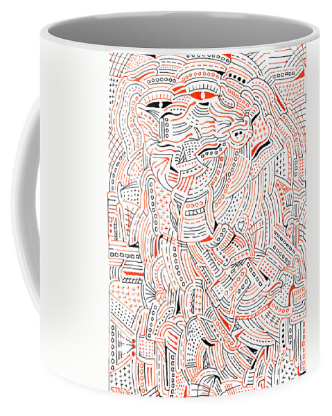 Mazes Coffee Mug featuring the drawing Self Portrait by Steven Natanson